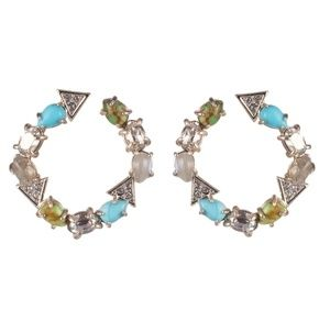 Alexis Bittar Multi-Stone Coiled Post Earrings